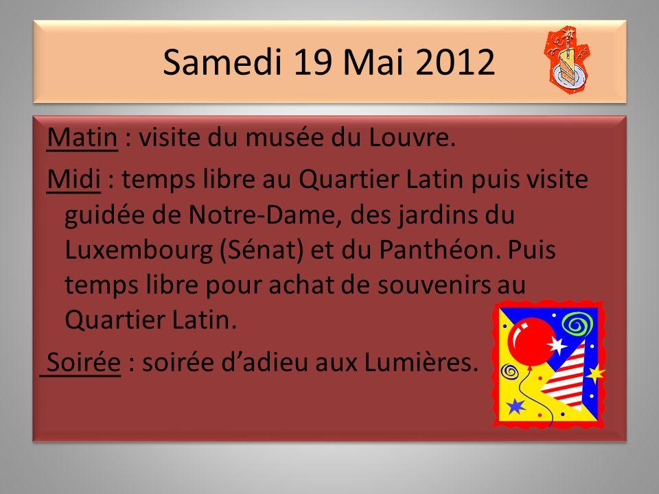 Vendredi 18 Mai 2012 Matin : Visite de lOpéra Garnier.