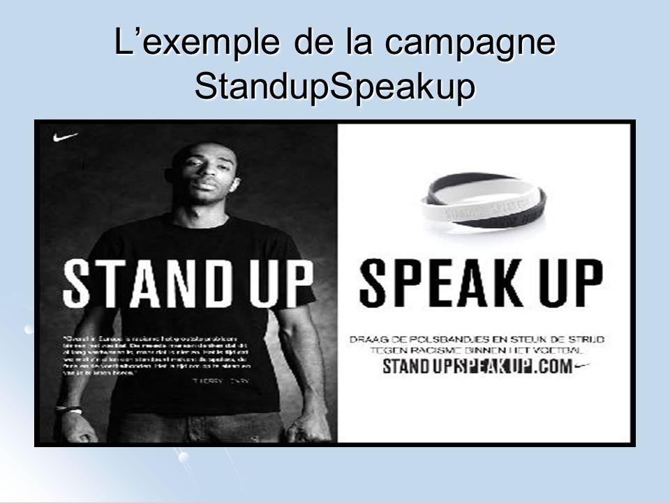 Lexemple de la campagne StandupSpeakup