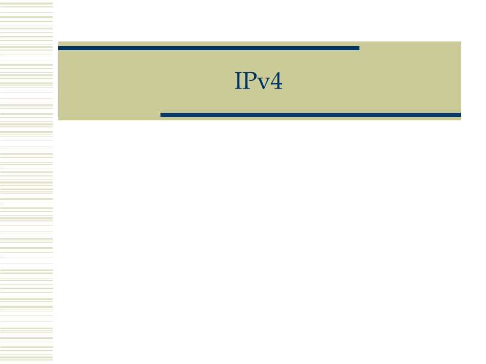 Version : Champ de 4 bits indiquant la version de IP.