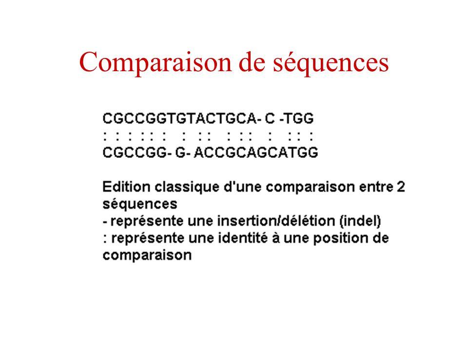 Comparaison de séquences