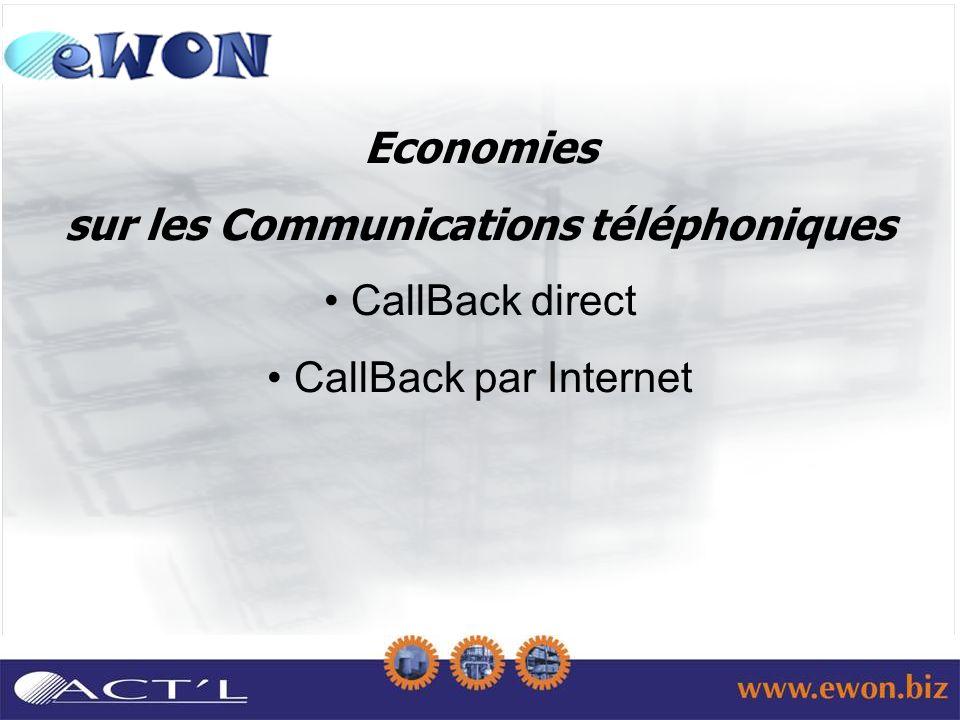 Economies sur les Communications téléphoniques CallBack direct CallBack par Internet