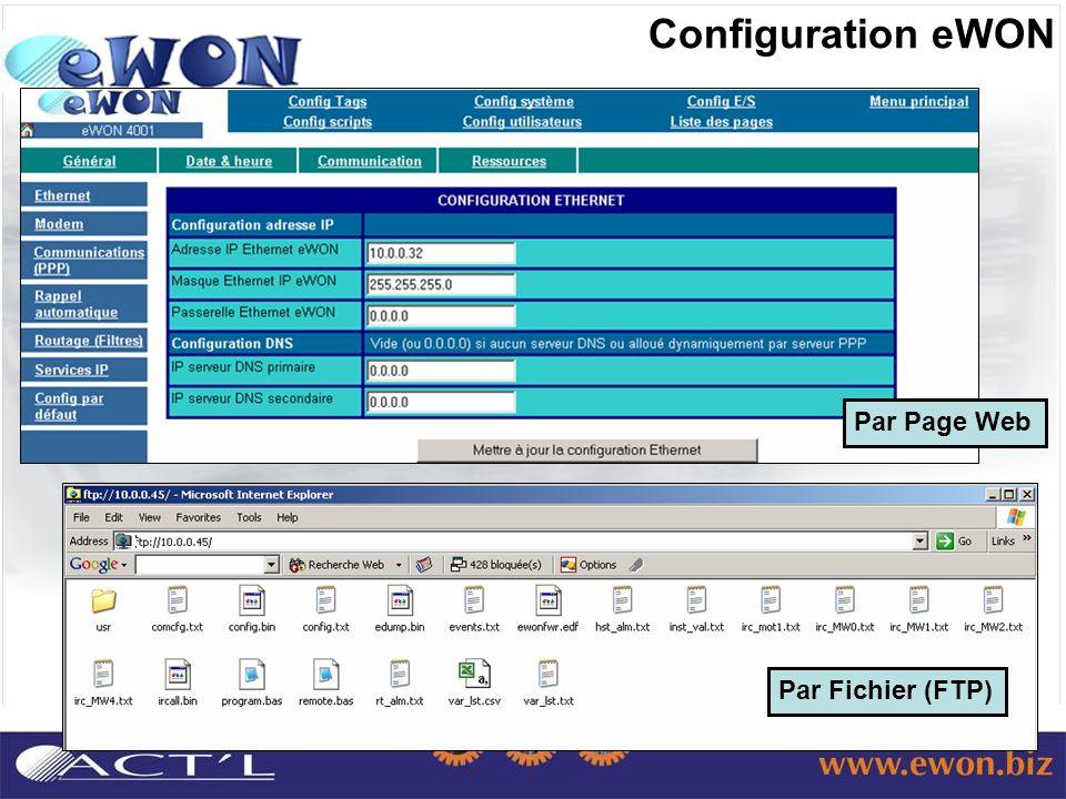 Configuration eWON Par Page Web Par Fichier (FTP)