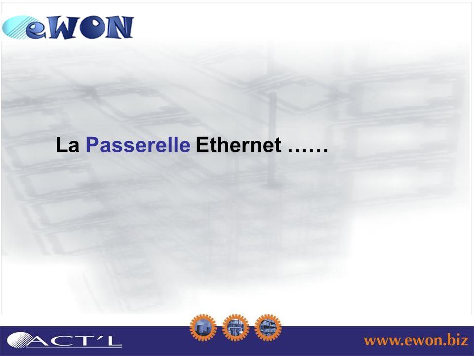 La Passerelle Ethernet ……