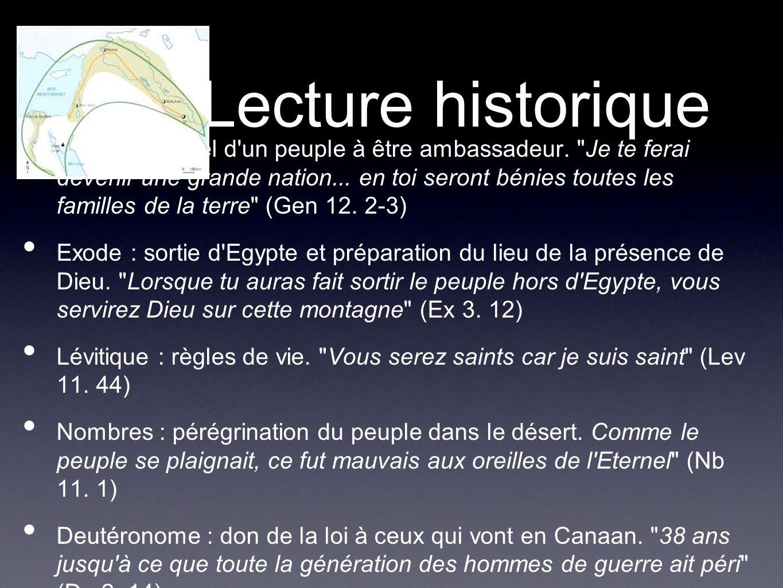 Lecture historique Genèse : appel d'un peuple à être ambassadeur.
