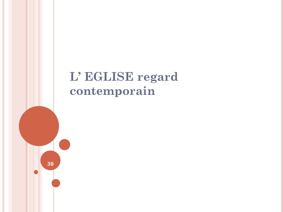 30 L EGLISE regard contemporain