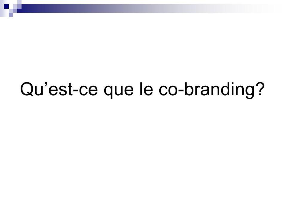 Quest-ce que le co-branding?