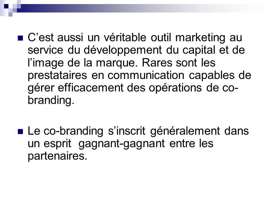 Cest aussi un véritable outil marketing au service du développement du capital et de limage de la marque. Rares sont les prestataires en communication