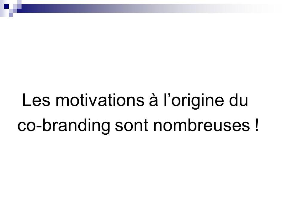 Les motivations à lorigine du co-branding sont nombreuses !