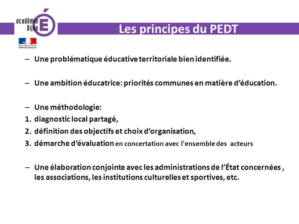 Les principes du PEDT – Une problématique éducative territoriale bien identifiée.