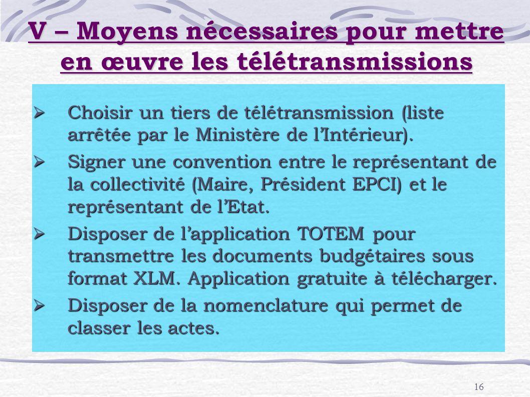 16 Choisir un tiers de télétransmission (liste arrêtée par le Ministère de lIntérieur). Choisir un tiers de télétransmission (liste arrêtée par le Min