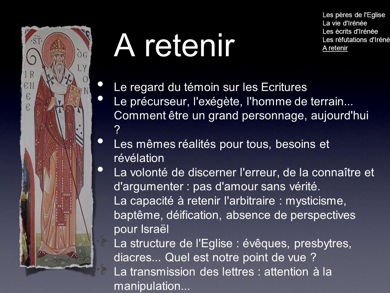 A retenir Le regard du témoin sur les Ecritures Le précurseur, l exégète, l homme de terrain...