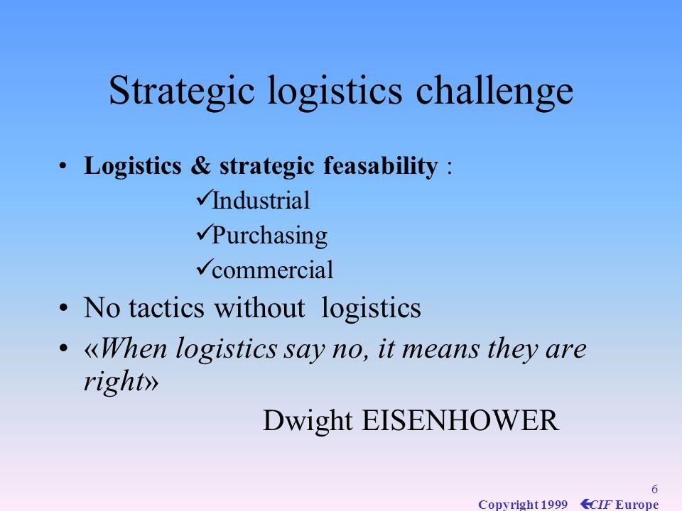 16 Copyright 1999 ç CIF Europe SCM Operational logistics