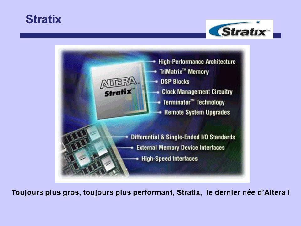Stratix Toujours plus gros, toujours plus performant, Stratix, le dernier née dAltera !