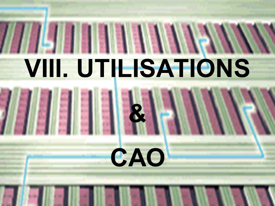VIII. UTILISATIONS CAO &