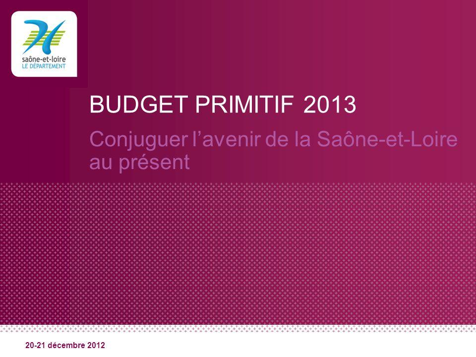 BUDGET PRIMITIF 2013 Conjuguer lavenir de la Saône-et-Loire au présent 20-21 décembre 2012