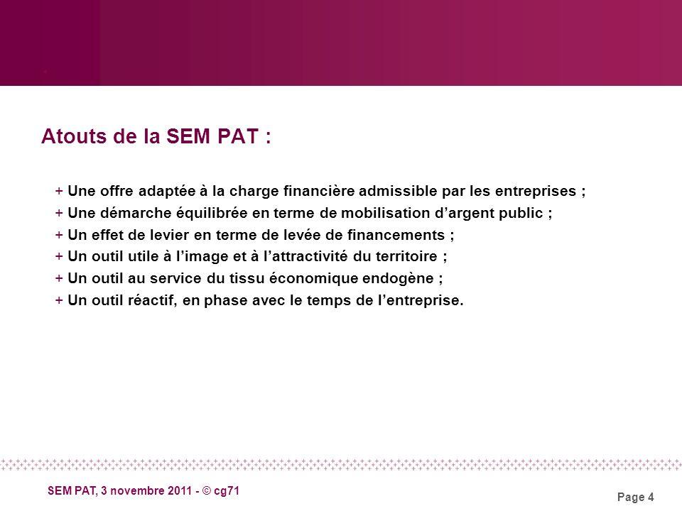 Page 4 SEM PAT, 3 novembre 2011 - © cg71.
