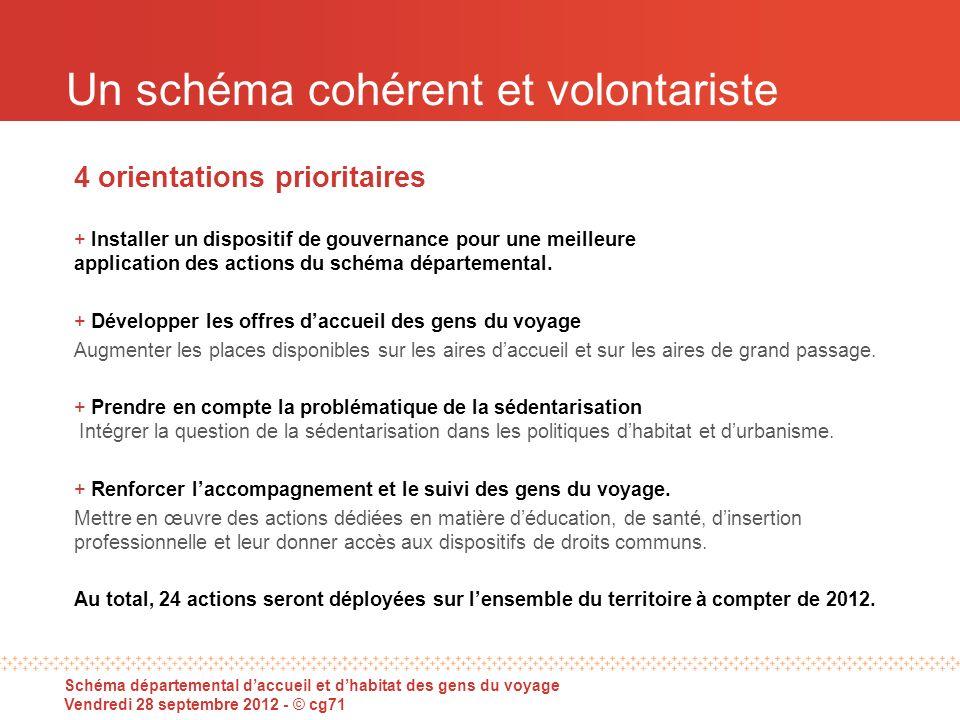 Un schéma cohérent et volontariste 4 orientations prioritaires + Installer un dispositif de gouvernance pour une meilleure application des actions du schéma départemental.