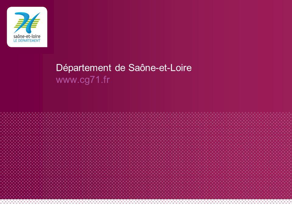 Département de Saône-et-Loire www.cg71.fr