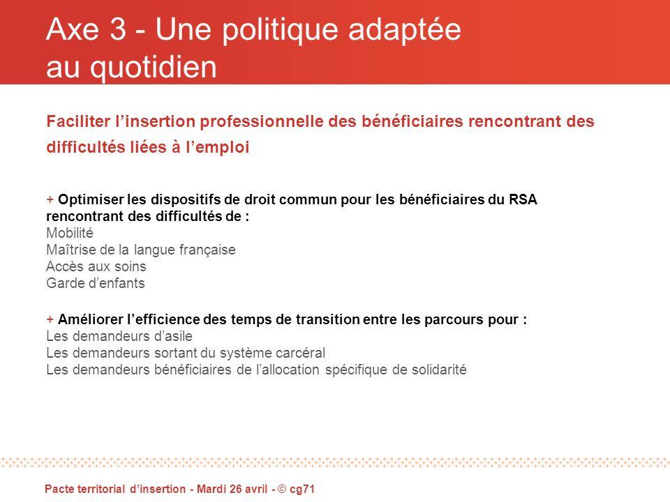 Pacte territorial dinsertion 2011 - 2013 Mardi 26 avril 2011