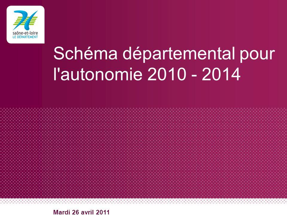 Schéma départemental pour l'autonomie 2010 - 2014 Mardi 26 avril 2011