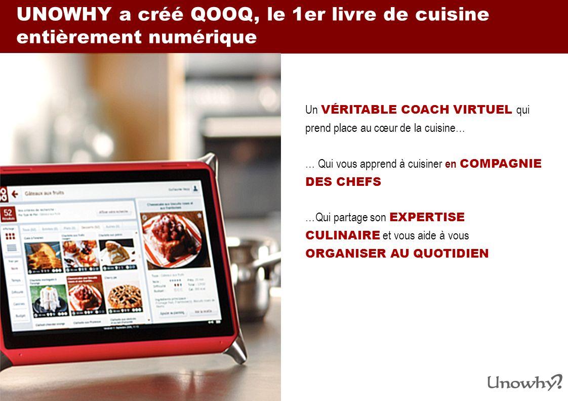 QOOQ permet daccéder à un contenu culinaire premium… 4,000 RECETTES INTERACTIVES Dont 1,200 recettes de chefs renommés détaillées dans des vidéos HD en temps réel LA PARTICIPATION DE PLUS DE 100 CHEFS de tous les horizons (MOF, étoilés, gastro, bistrot, tendance, …) et de toutes les cuisines UN GUIDE CULINAIRE COMPLET composé de plus de 1 000 fiches techniques, ingrédients et vins, UN MAGAZINE TOUT EN IMAGE Portraits de chefs en vidéos, reportages sur les dernières tendances, les produits et sur tout ce quil faut savoir dans lunivers de la cuisine et de la gastronomie