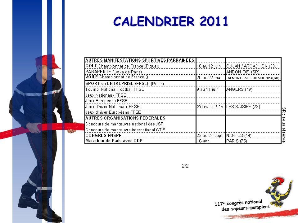 117 e congrès national des sapeurs-pompiers CALENDRIER 2011 2/2