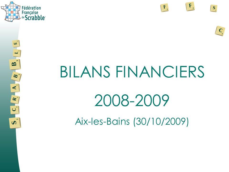 BILANS FINANCIERS 2008-2009 Aix-les-Bains (30/10/2009)