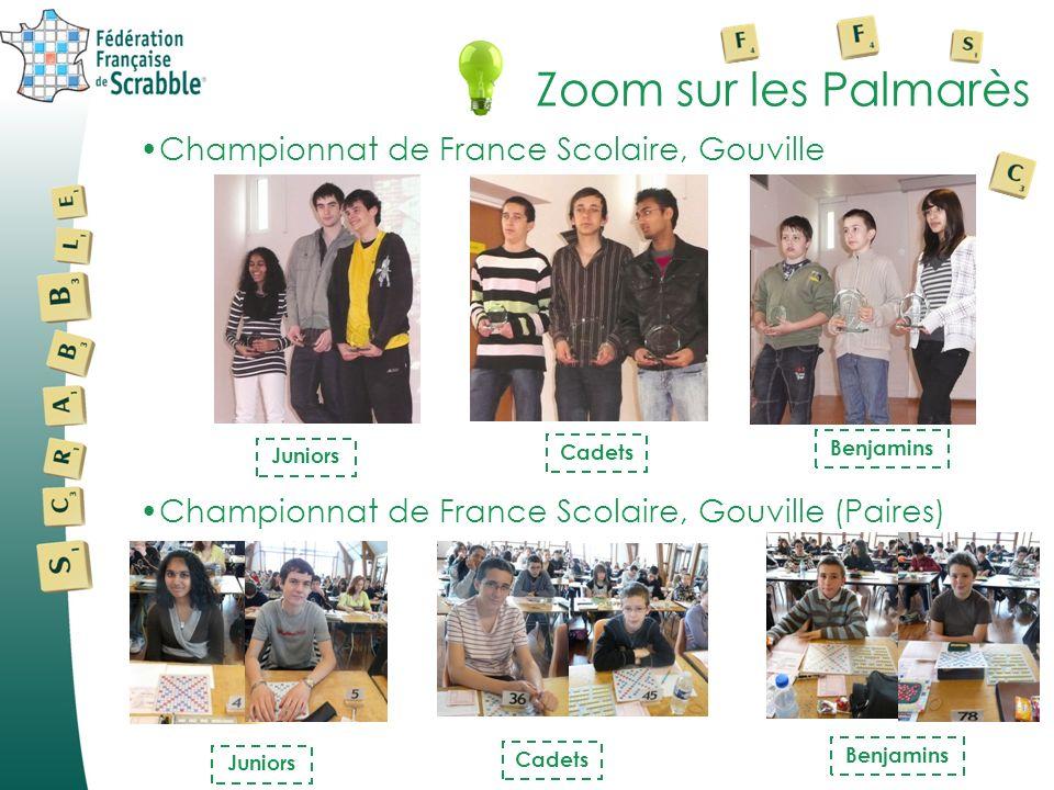 Zoom sur les Palmarès Championnat de France Scolaire, Gouville Juniors Cadets Benjamins Championnat de France Scolaire, Gouville (Paires) Juniors Cade