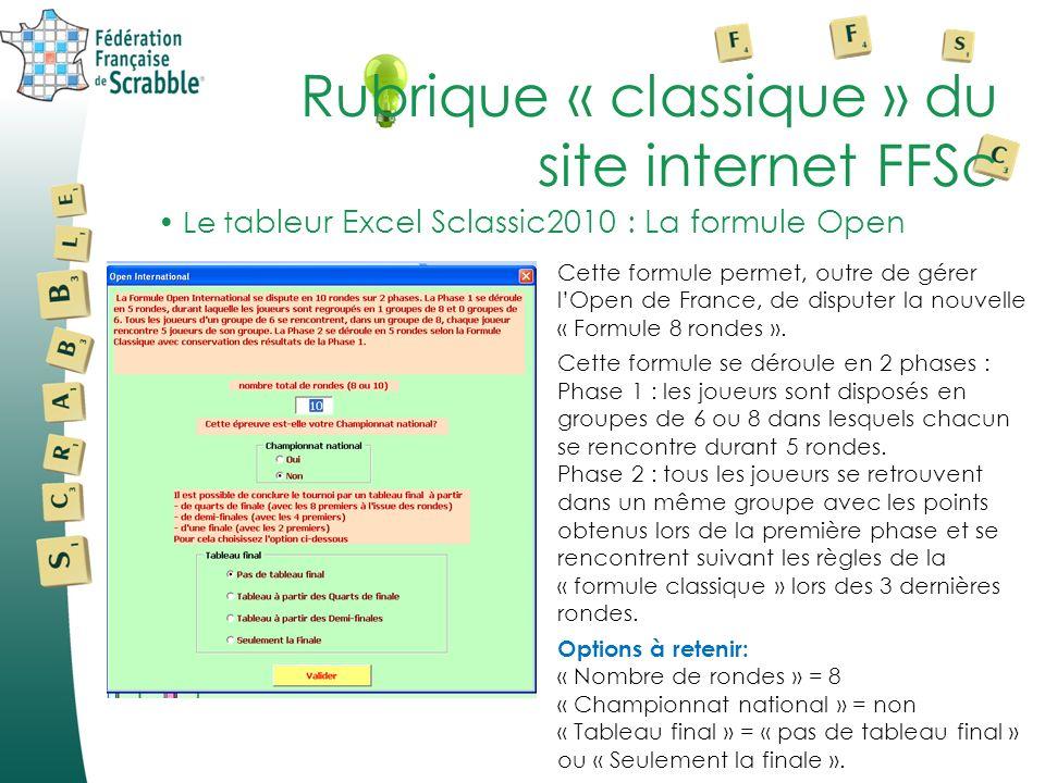 Cette formule permet, outre de gérer lOpen de France, de disputer la nouvelle « Formule 8 rondes ».