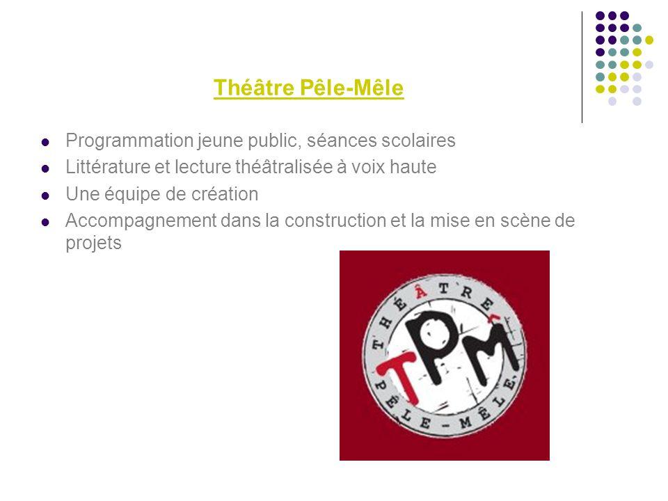 Théâtre Pêle-Mêle Programmation jeune public, séances scolaires Littérature et lecture théâtralisée à voix haute Une équipe de création Accompagnement dans la construction et la mise en scène de projets