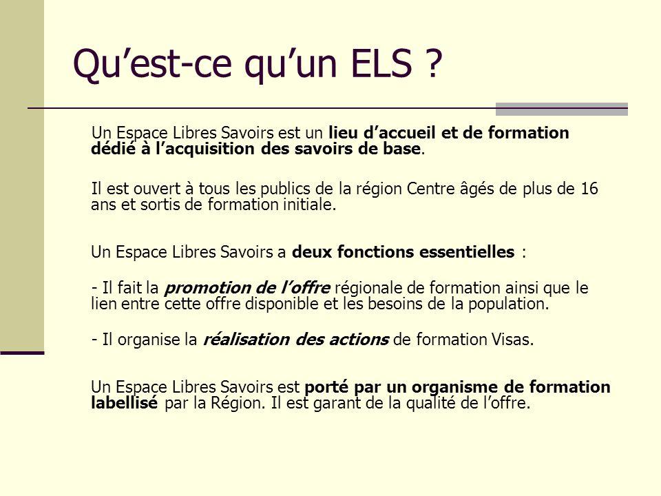 Réseau et dispositif Les Espaces Libres Savoirs constituent un réseau couvrant lensemble de la région Centre.