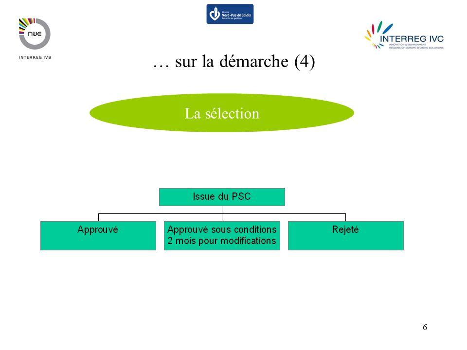 6 … sur la démarche (4) La sélection