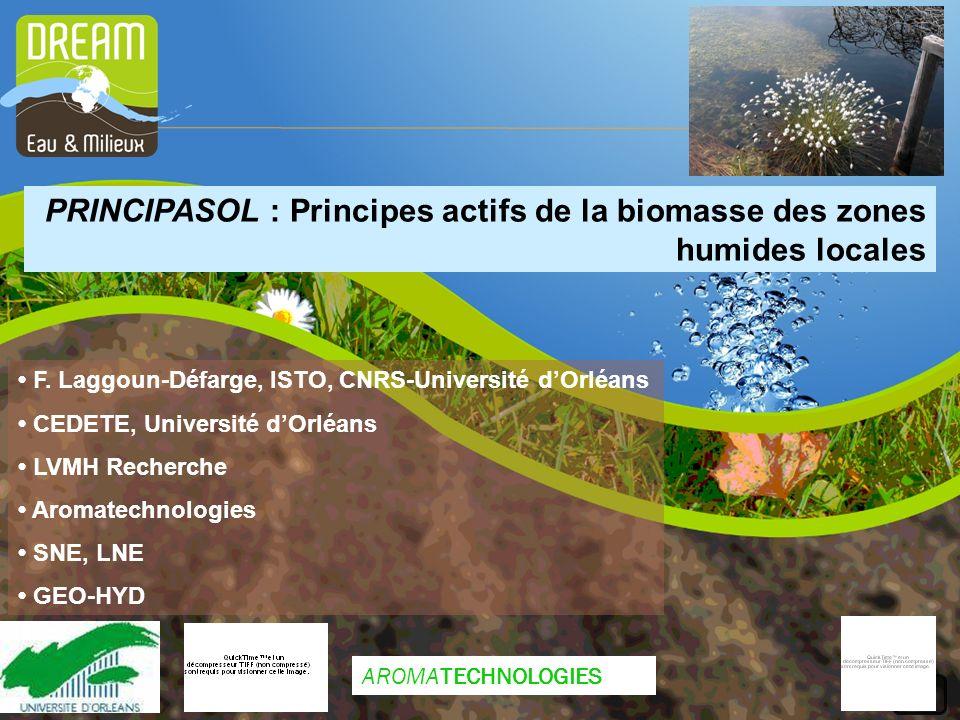 PRINCIPASOL : Principes actifs de la biomasse des zones humides locales F.