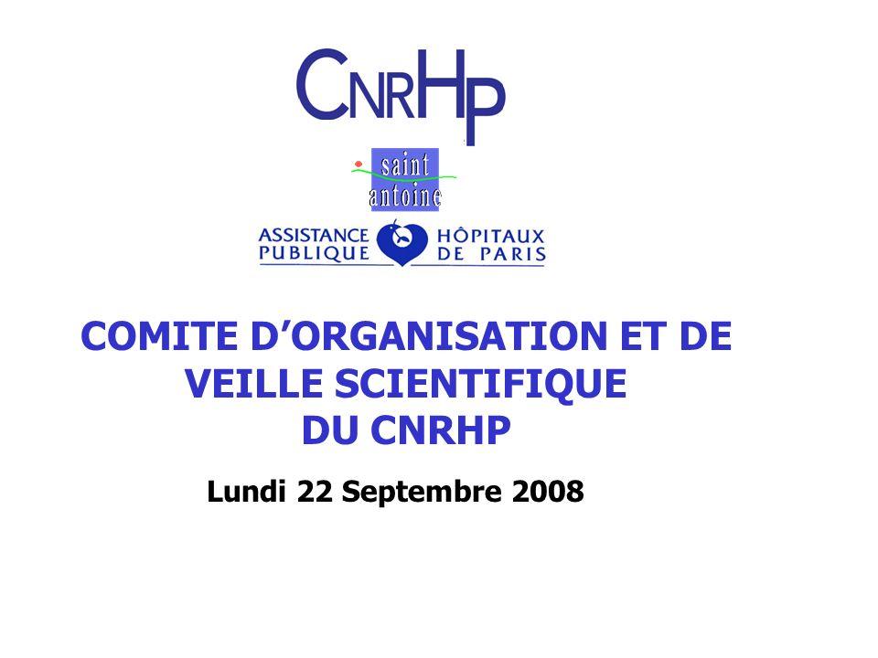 COMITE DORGANISATION ET DE VEILLE SCIENTIFIQUE DU CNRHP Lundi 22 Septembre 2008