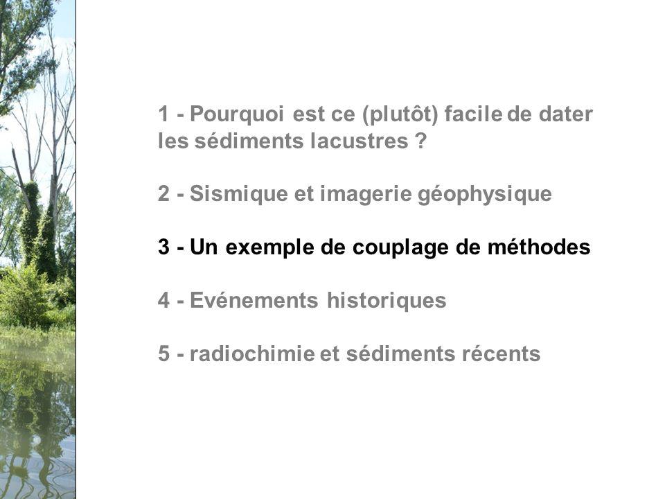 Séminaire PCB-Rhône, 12 février 2009 1 - Pourquoi est ce (plutôt) facile de dater les sédiments lacustres .