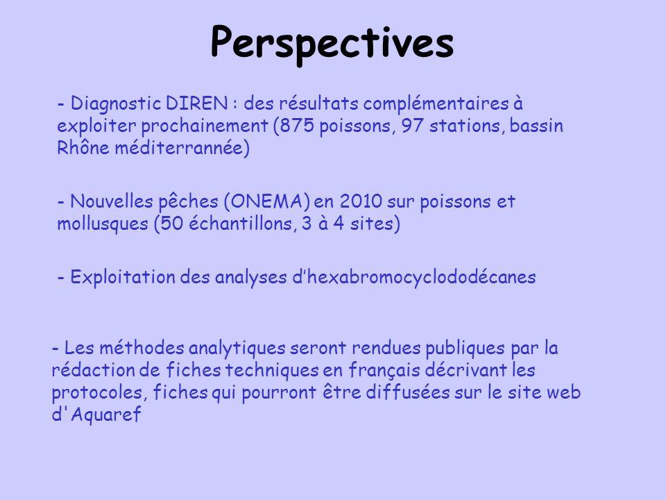 Perspectives - Diagnostic DIREN : des résultats complémentaires à exploiter prochainement (875 poissons, 97 stations, bassin Rhône méditerrannée) - No