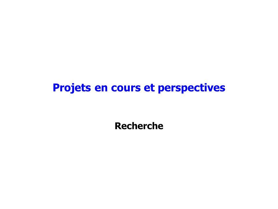 Projets en cours et perspectives Recherche