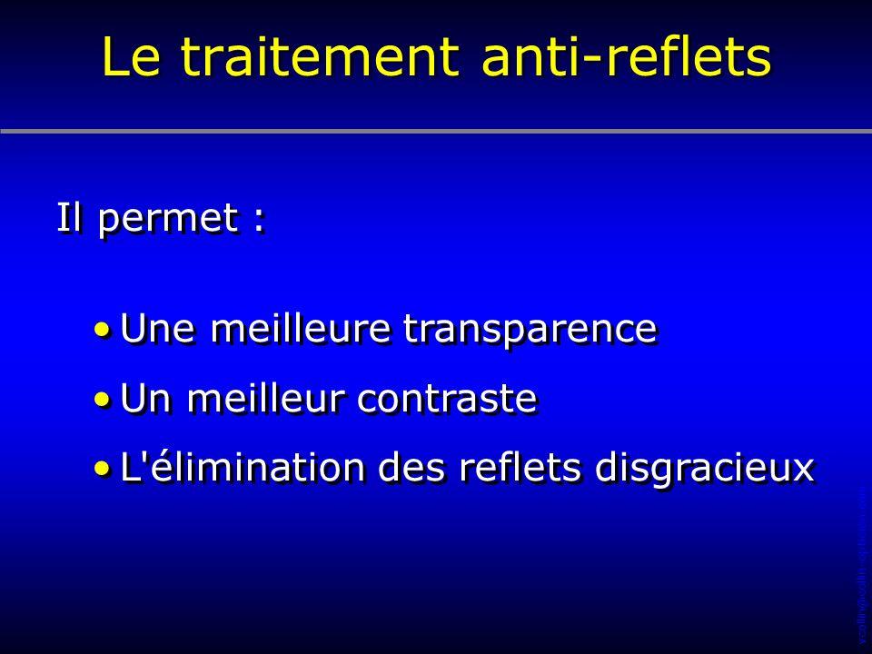 vcollin@collin-opticien.com Il permet : Une meilleure transparence Un meilleur contraste L'élimination des reflets disgracieux Il permet : Une meilleu
