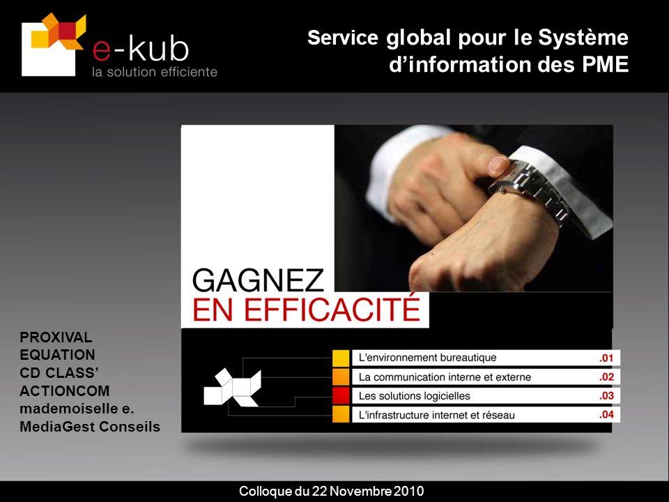 Colloque du 22 novembre 20102 Les besoins des entreprises Un système dinformation et de gestion complet, performant et flexible.