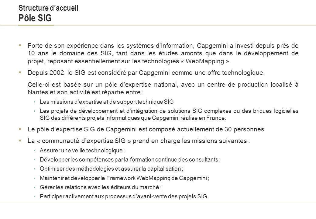 Structure daccueil Capgemini Fondée à Grenoble en 1967, Capgemini est devenue lun des leaders mondiaux de lindustrie du conseil et des services inform
