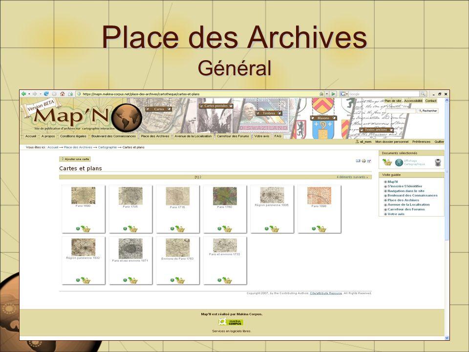 Place des Archives Général
