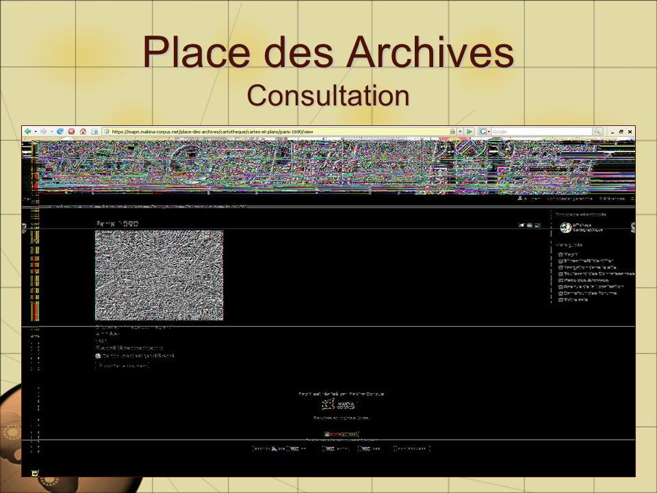 Place des Archives Consultation