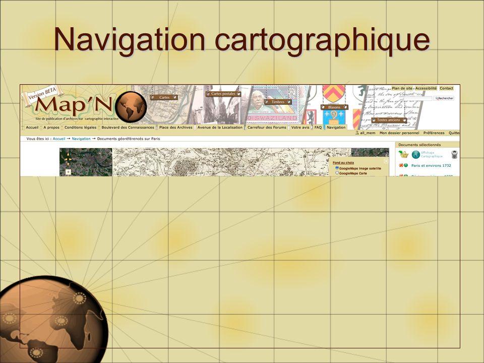 Navigation cartographique