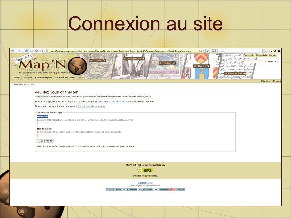 Connexion au site