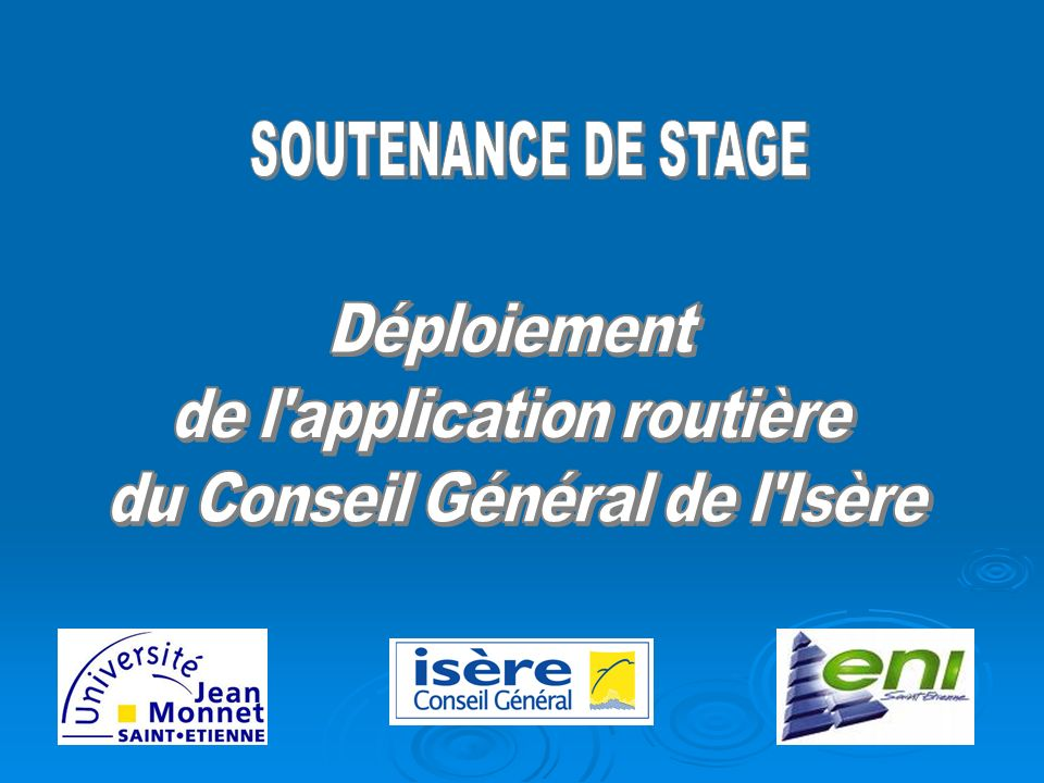 Le Conseil Général : - son fonctionnement - ses compétences La Direction des routes : - une direction opérationnelle - ses missions Le Service Poste Commandement Circulation : - sa mission principale - la cellule SIG