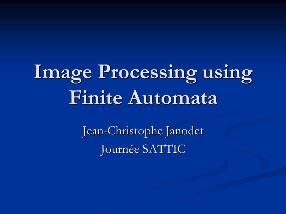 Contre-exemple Tout langage f de Σ * définit une image de résolution multiple, mais elle nest pas nécessairement AP