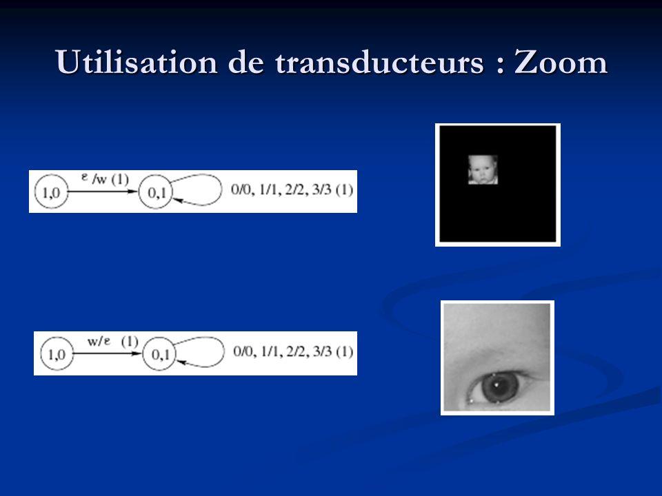 Utilisation de transducteurs : Zoom