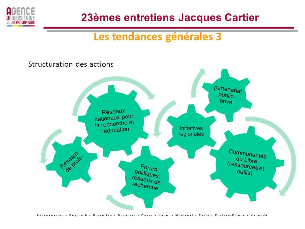 Les tendances générales 2 23èmes entretiens Jacques Cartier