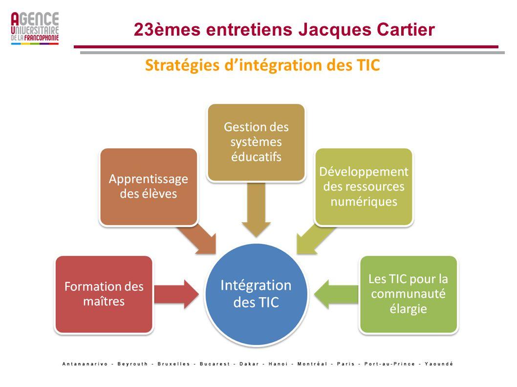Les tendances générales 3 Structuration des actions 23èmes entretiens Jacques Cartier