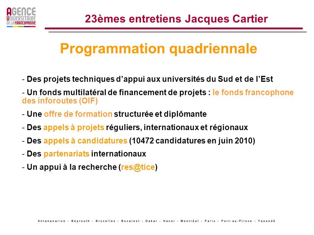Lexpérience de la Francophonie et de ses partenaires LAUF un rôle dagence pour 759 établissements membres